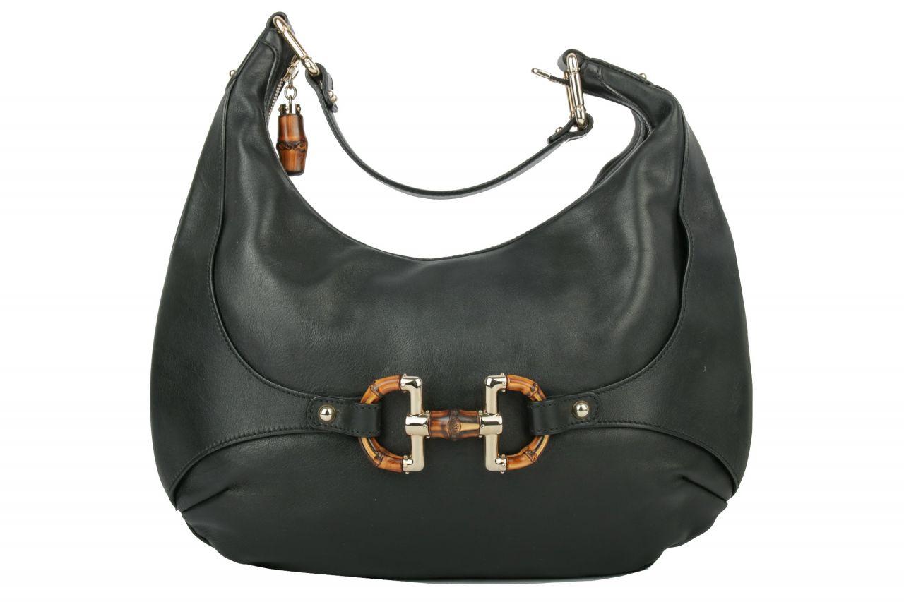 Gucci Amalfi Hobo Bag Leather Black