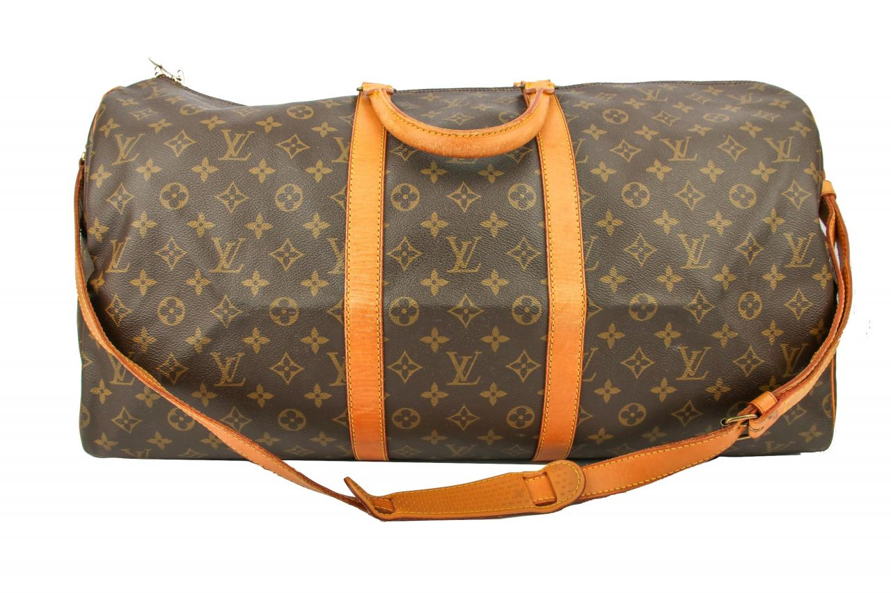 Louis Vuitton Keepall 55 mit Schulterriemen Monogram Canvas
