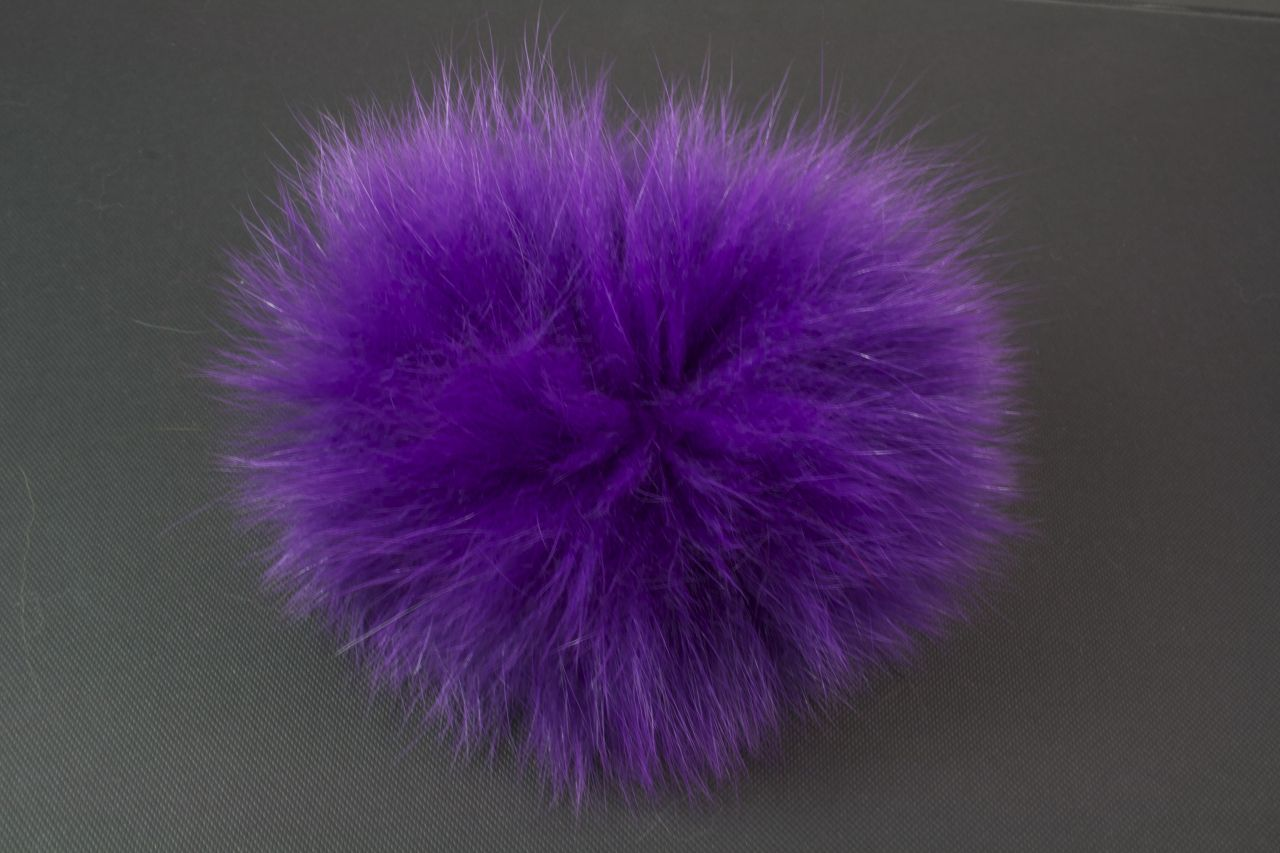 Luxussachen Handtaschen-Dekor Fellbommel Lila