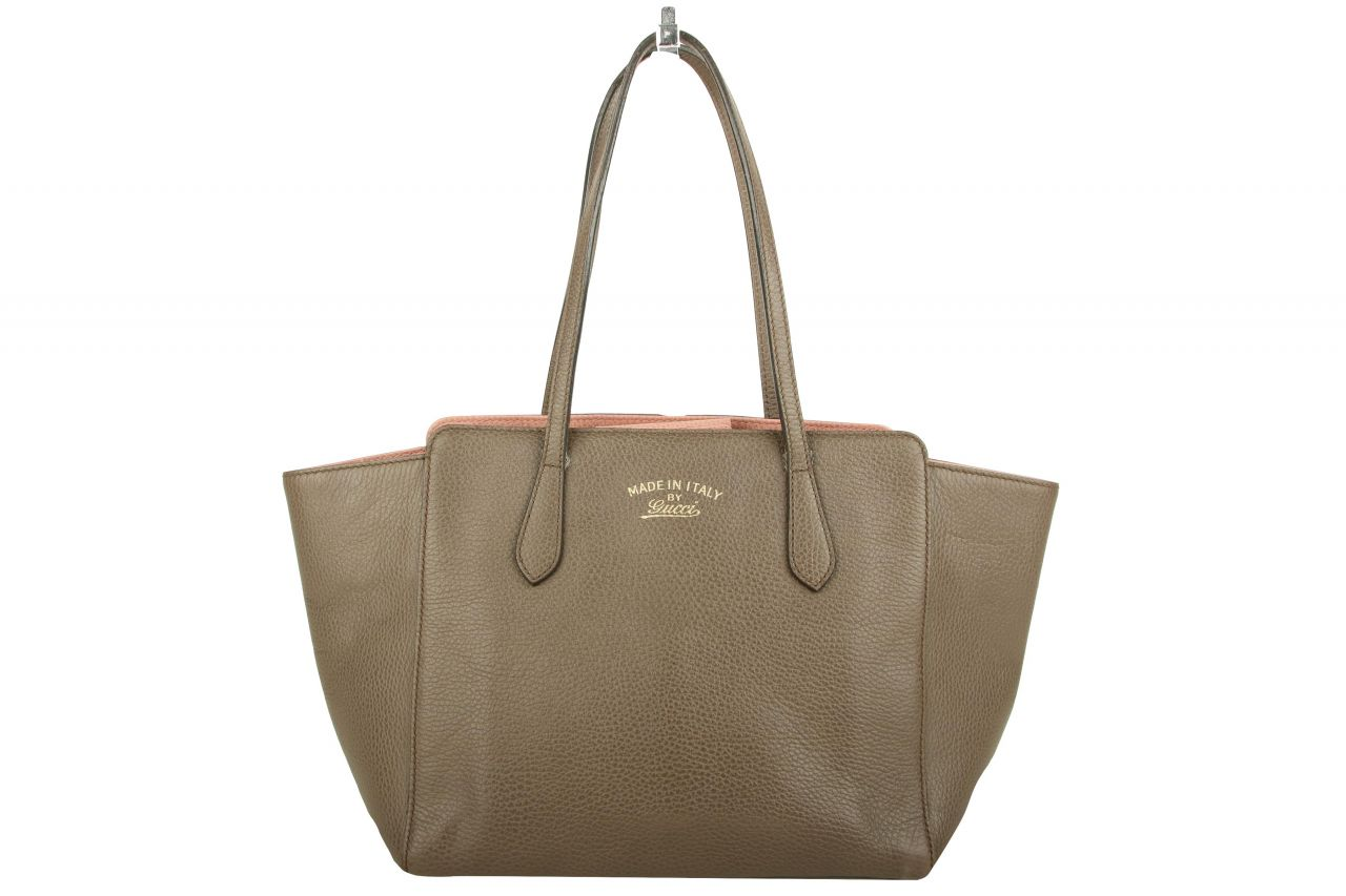 Gucci Swing Tote Bag Taupe / Rose