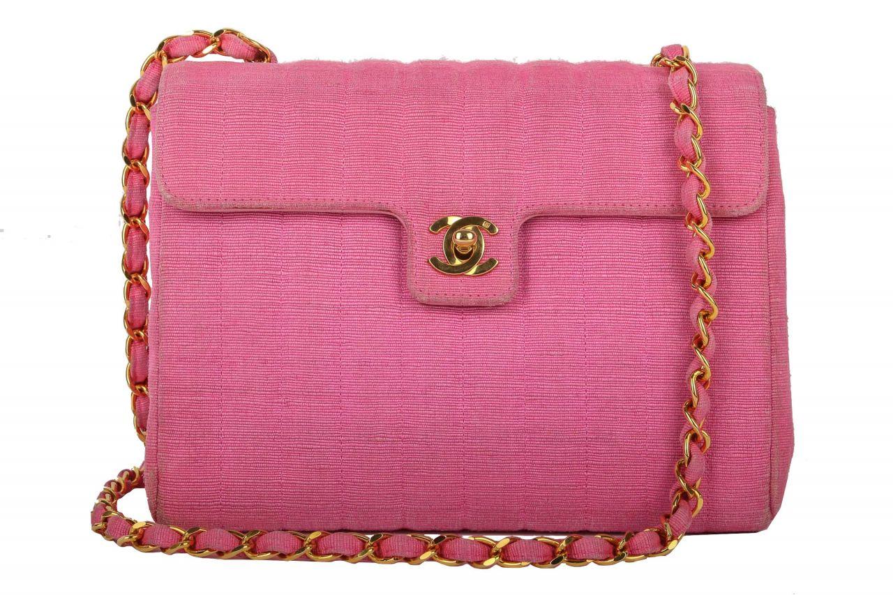 Chanel Jersey Flap Bag Pink
