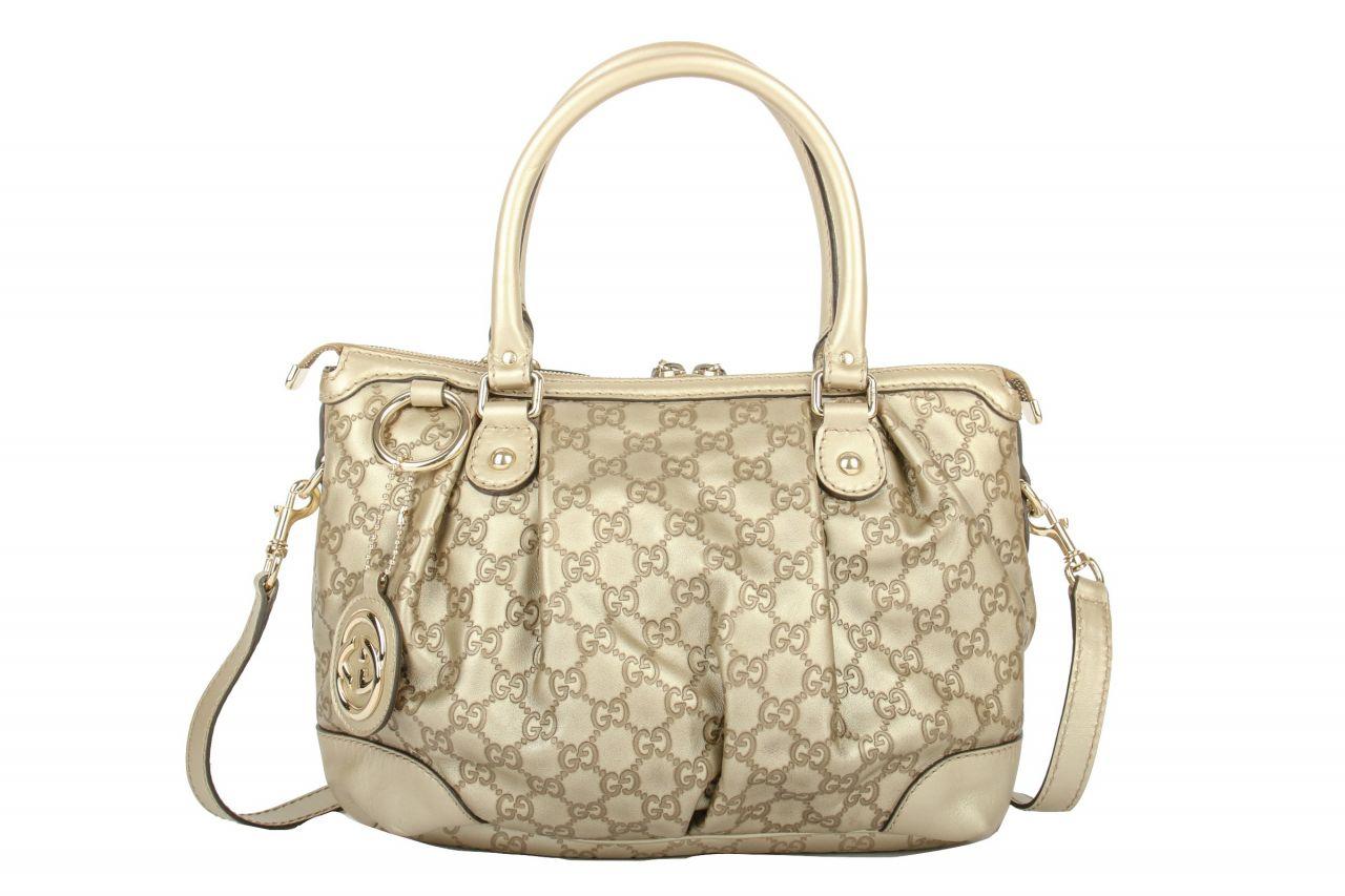 Gucci Sukey Champagne GG Leather