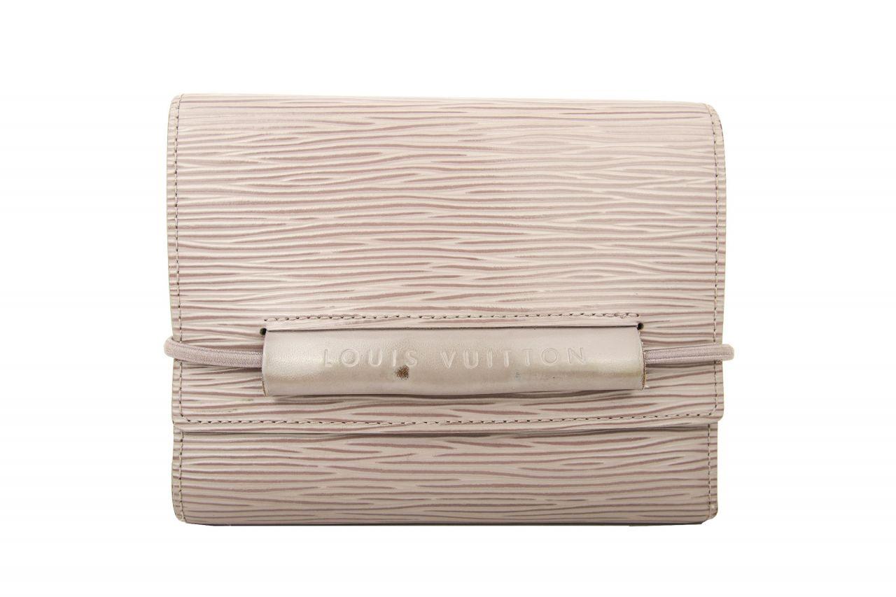 Louis Vuitton Portemonnaie Epi Leder Grau