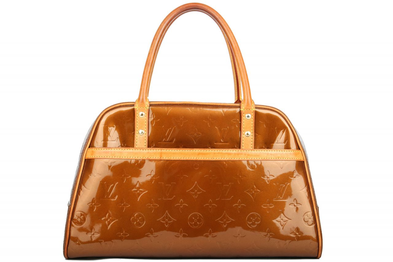 Louis Vuitton Tompkins Monogram Vernis Bronze