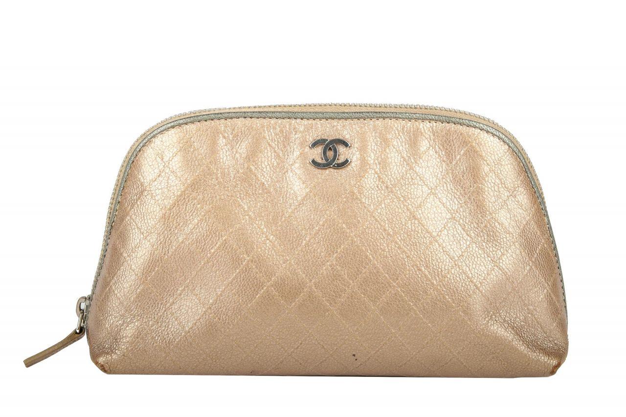 Chanel Kosmetiktasche Beige