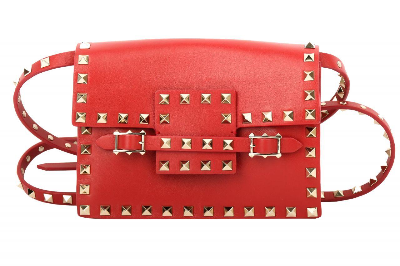 Valentino Garavani Rockstud Crossbody Bag Red