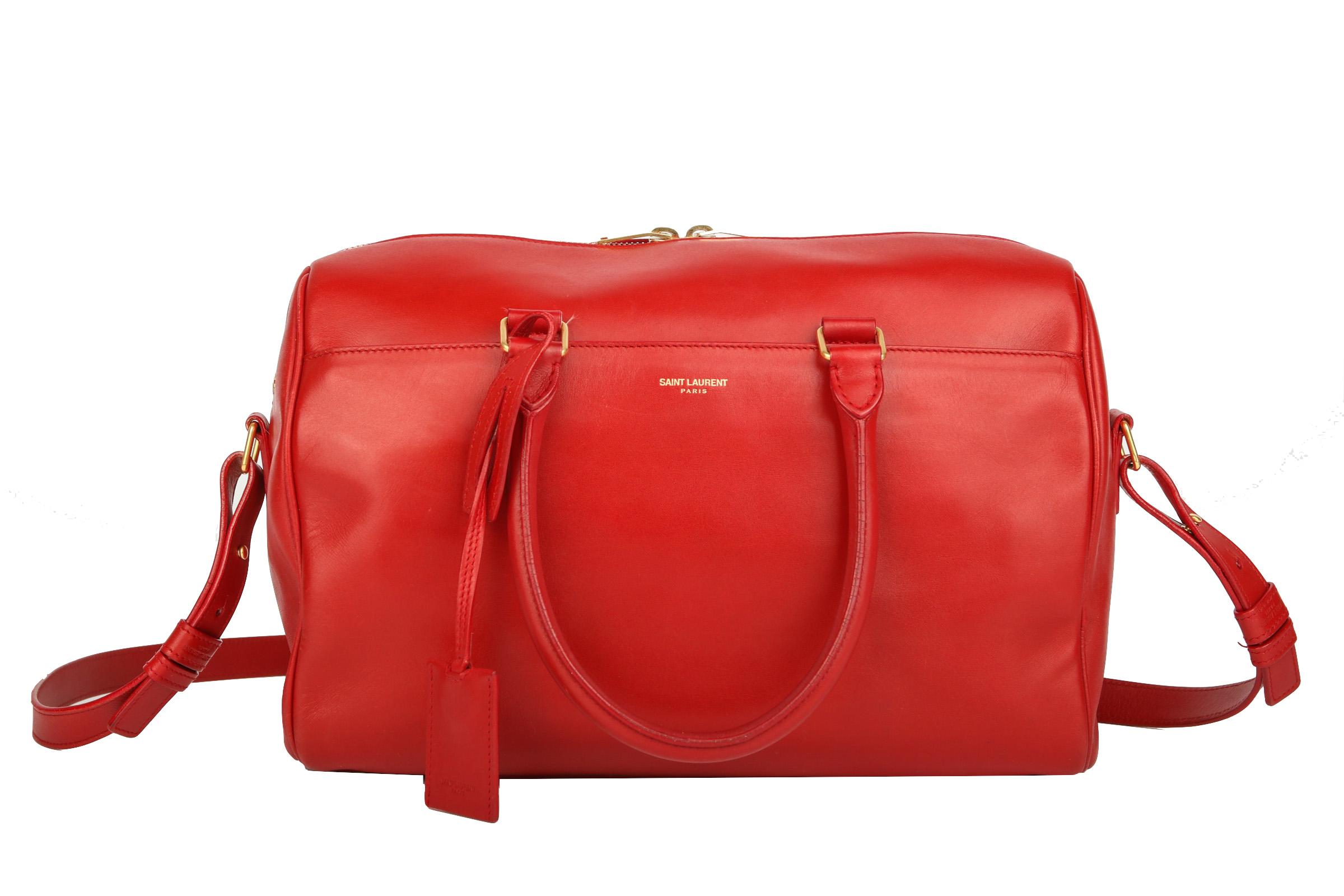 8dd4dfc0e6198 Saint Laurent Duffle 3 Mini Bowling Bag Rot