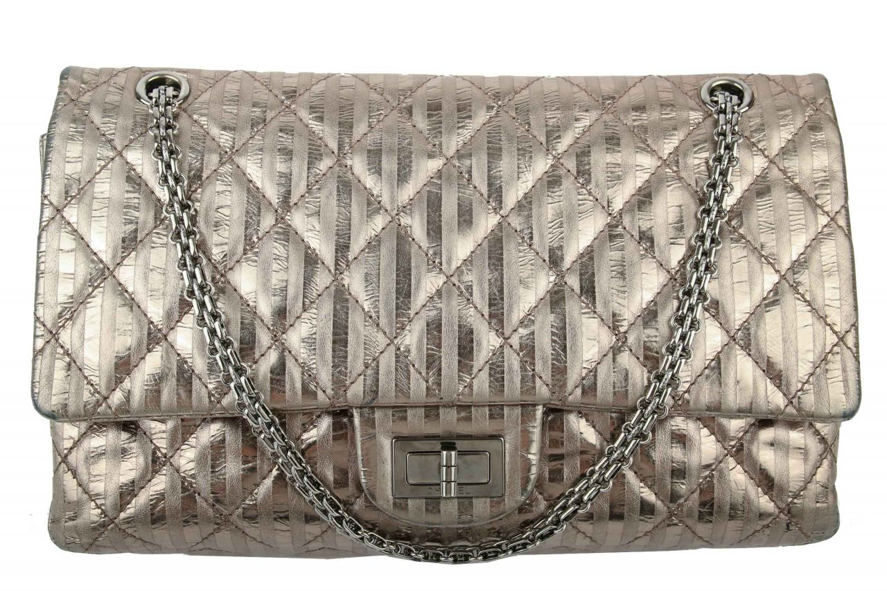 Chanel 2.55 Jumbo Bag Metallic