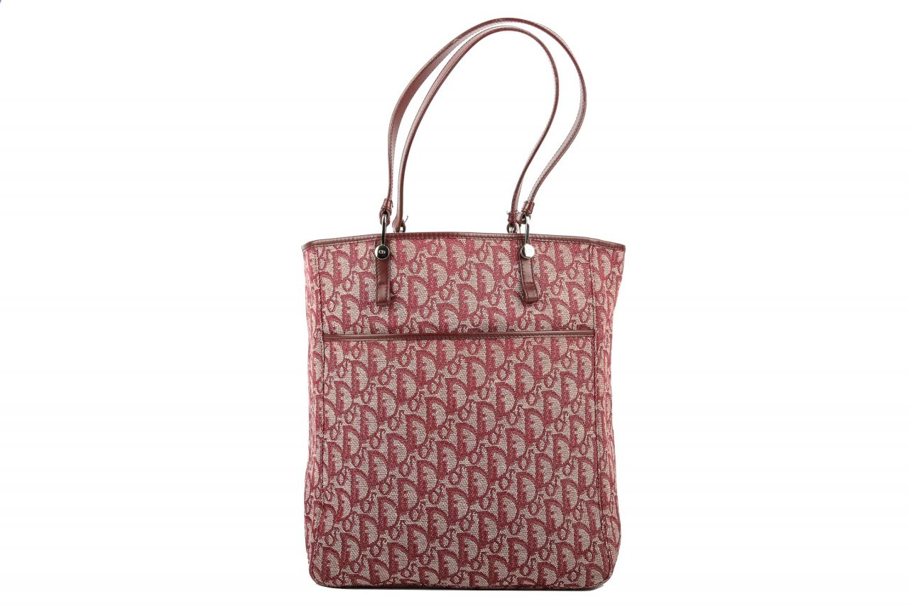 Dior Diorissimo Canvas Shoulder Bag Red