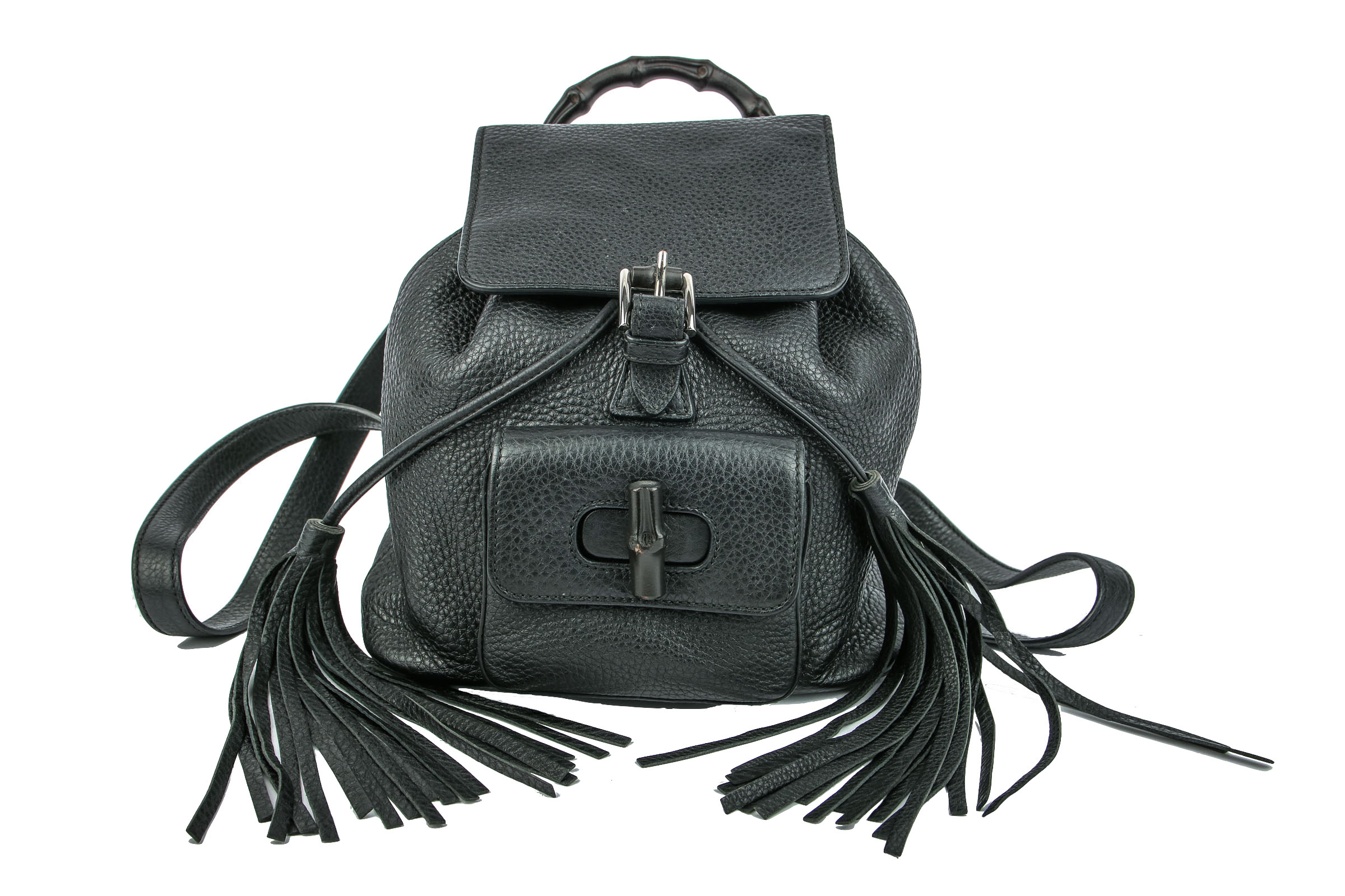 Preview  Gucci Bamboo Backpack Mini Black