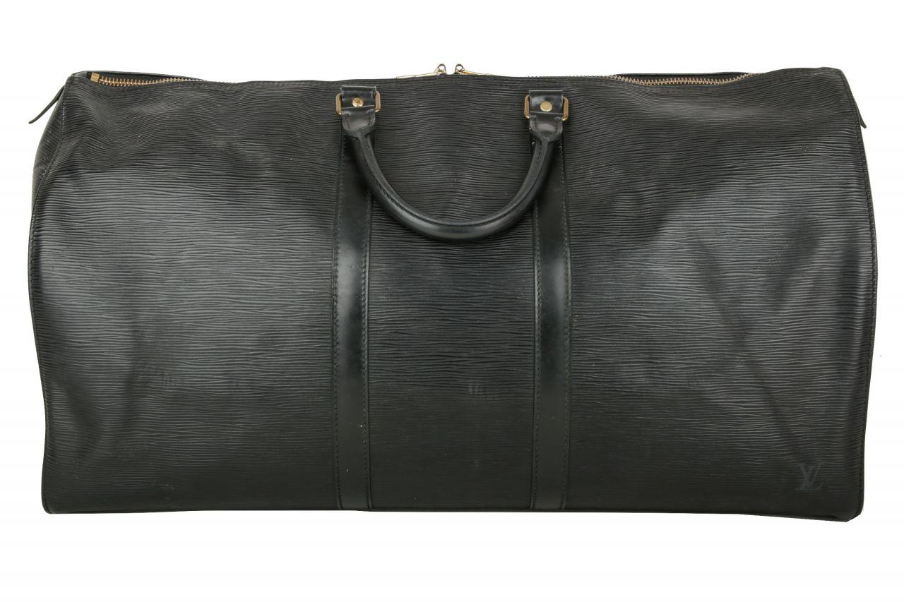 Louis Vuitton Keepall 55 Epi Leather Black