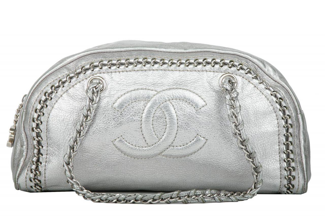 Chanel Schultertasche Metallic
