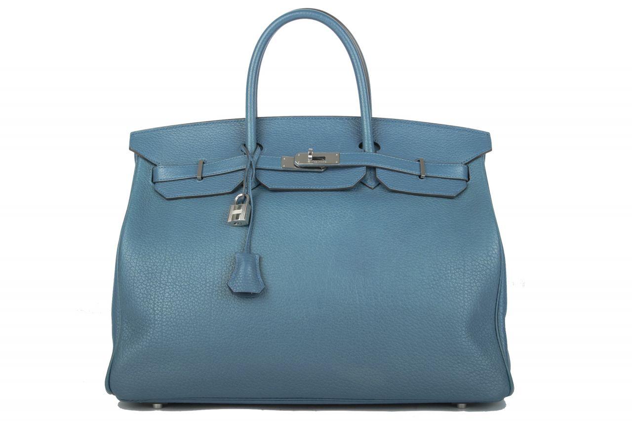 Hermès Birkin 40 Colver Blau Togo