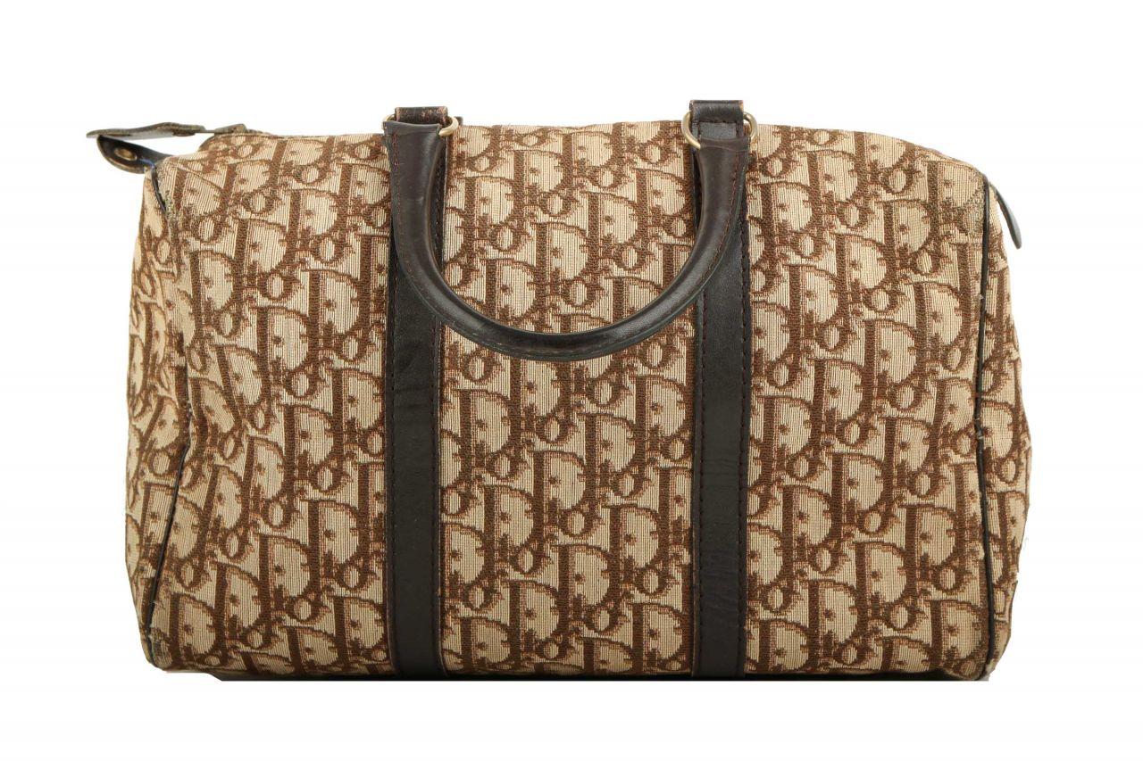 Dior Vintage Bowling Bag Braun