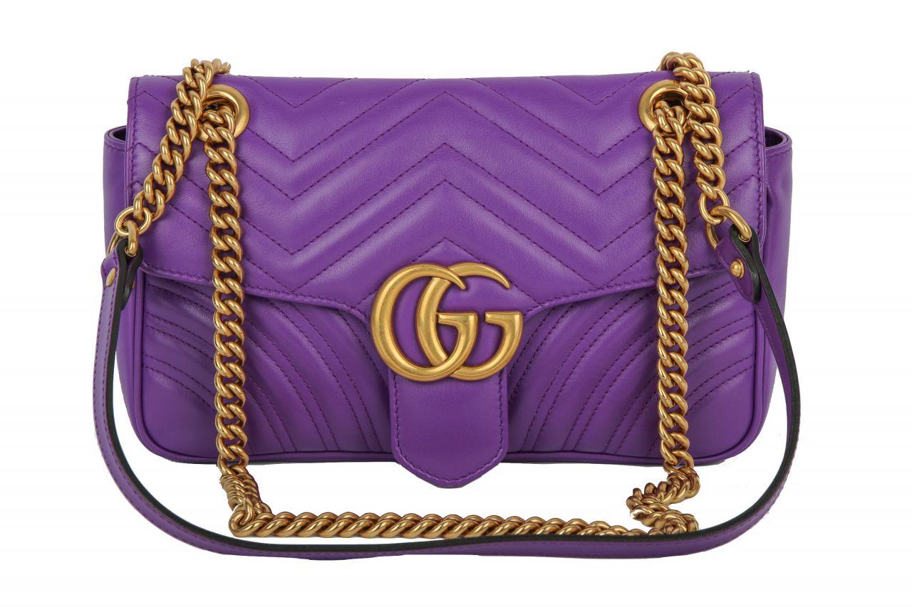 Gucci 'GG Marmont' Schultertasche Lila