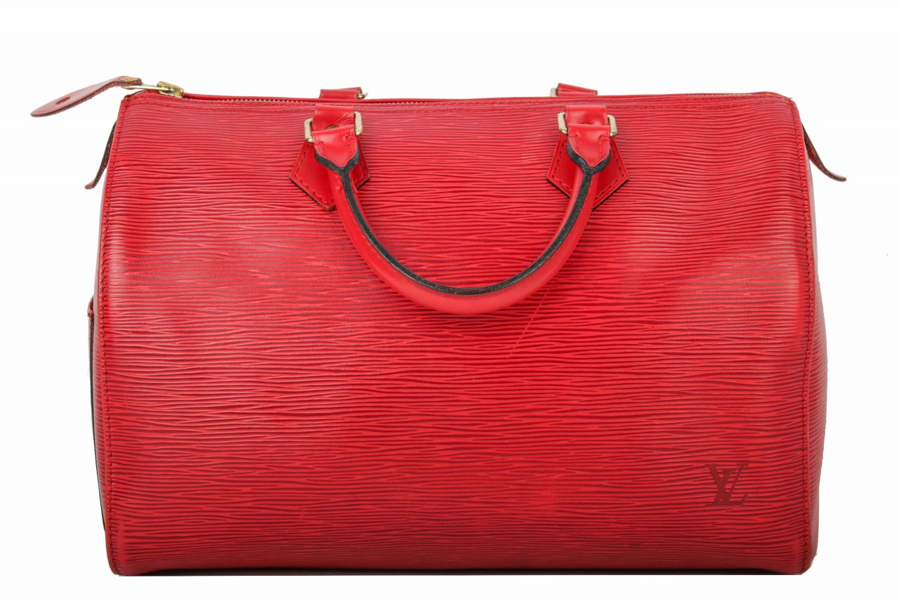 Louis Vuitton Speedy 35 Epi Leder in rot