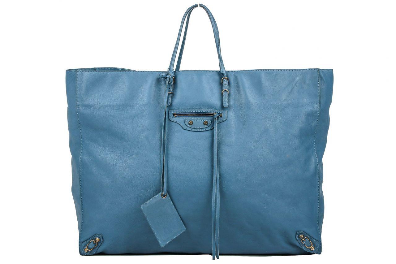 Balenciaga XL Shopper/ Sporttasche Blau/Grau
