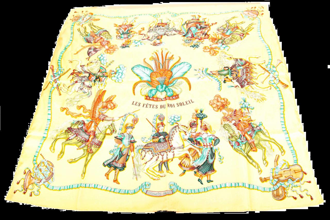 """Hermès Carré """"Les Fêtes du Roi Soleil"""" Seidentuch 90x90cm"""