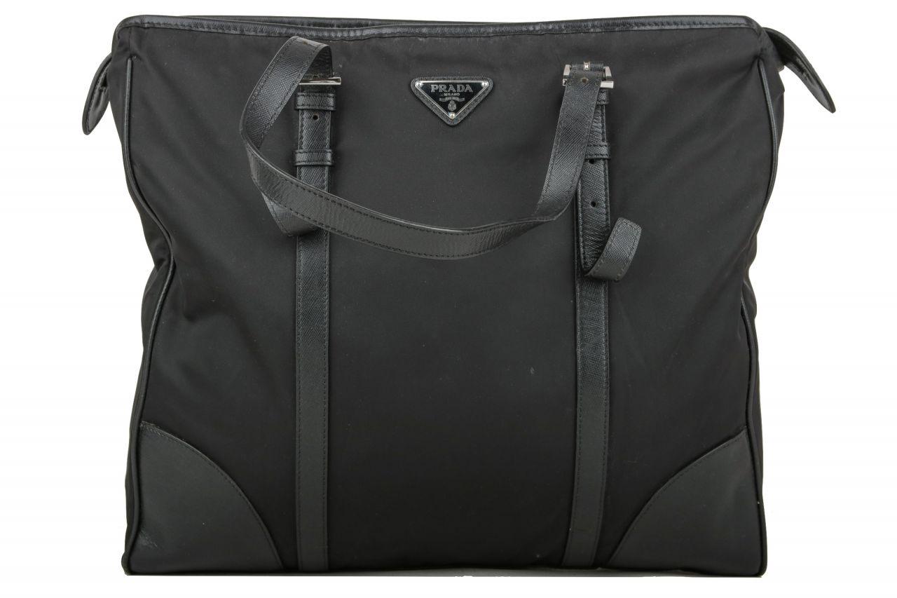 Prada Tote Bag Nylon Schwarz
