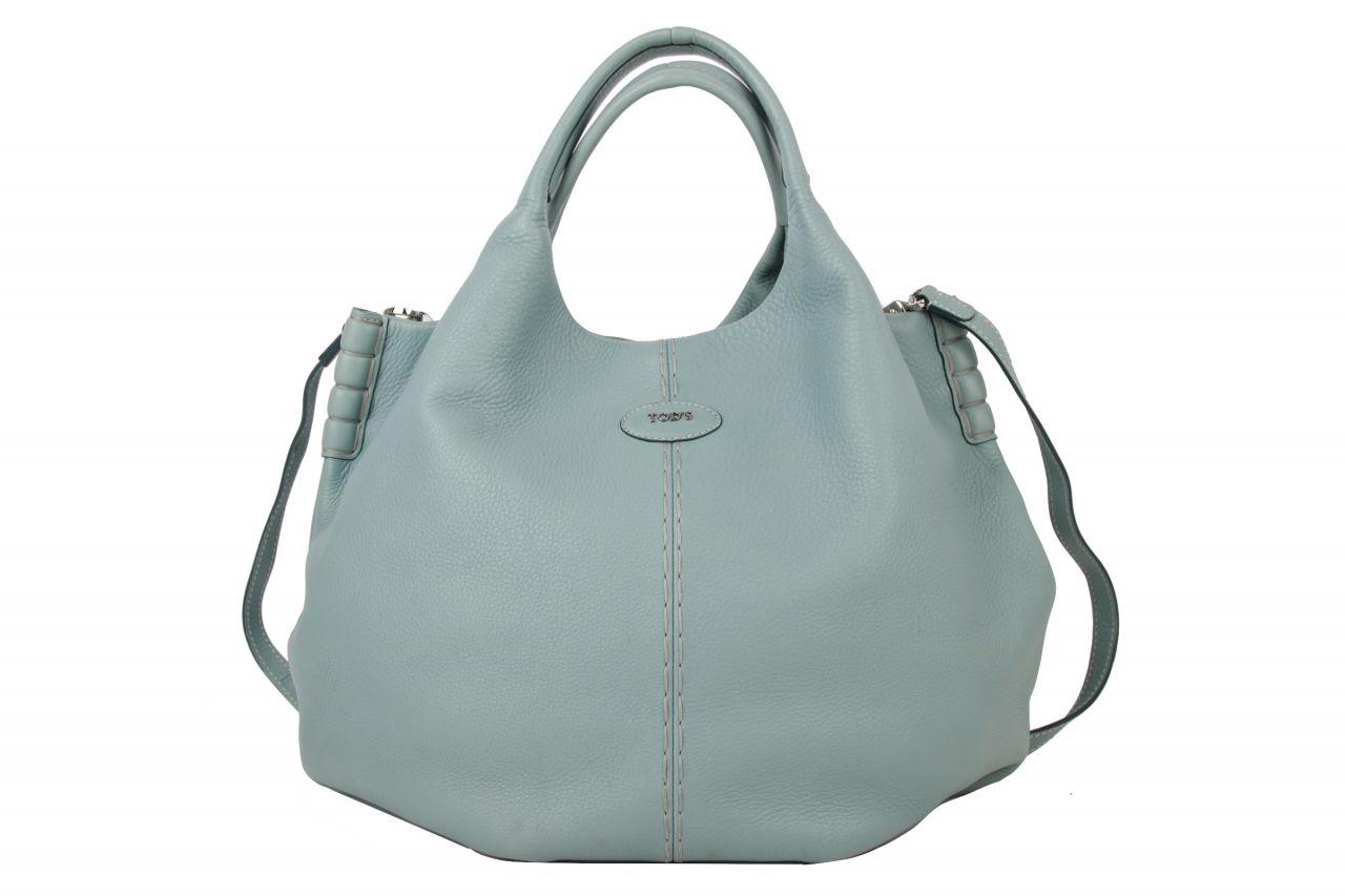 Tod's Bucket Bag Hellblau mit Schulterriemen