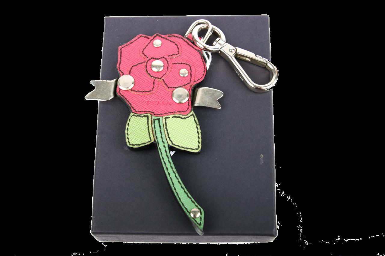 Prada Taschenanhänger Schlüsselanhänger Rose
