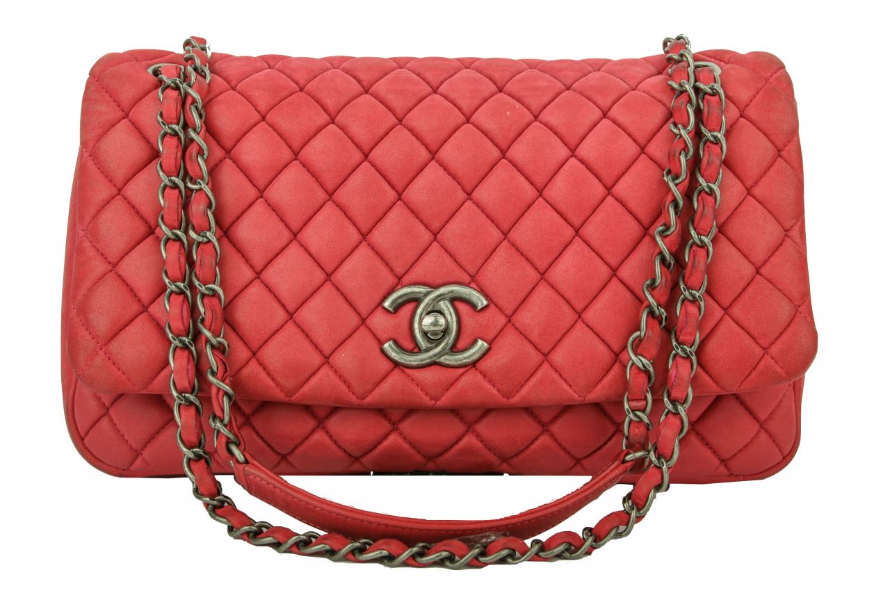Chanel Easy Flap Bag Red