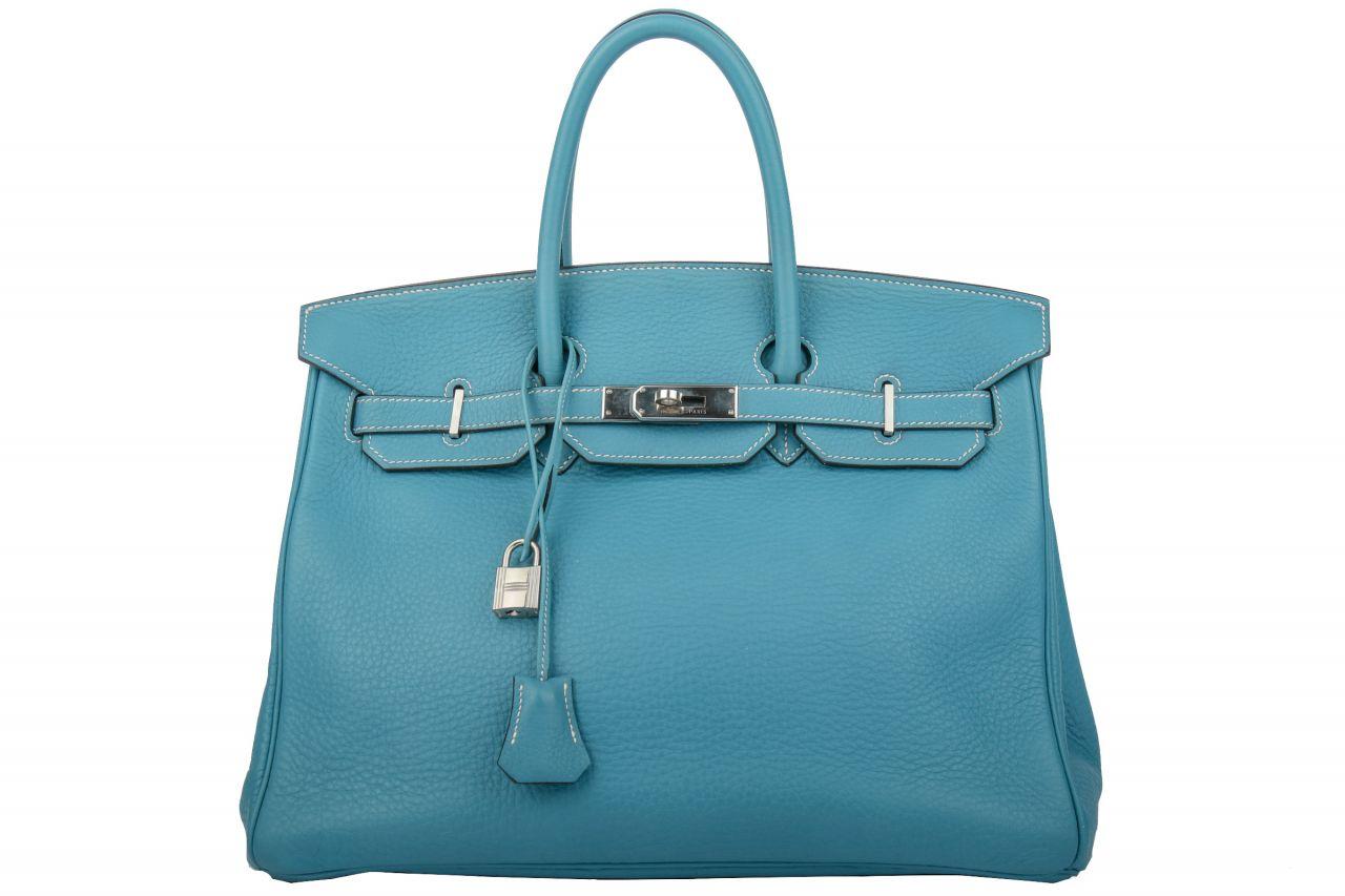 Hermès Birkin Bag 35 Blue Jean Togo