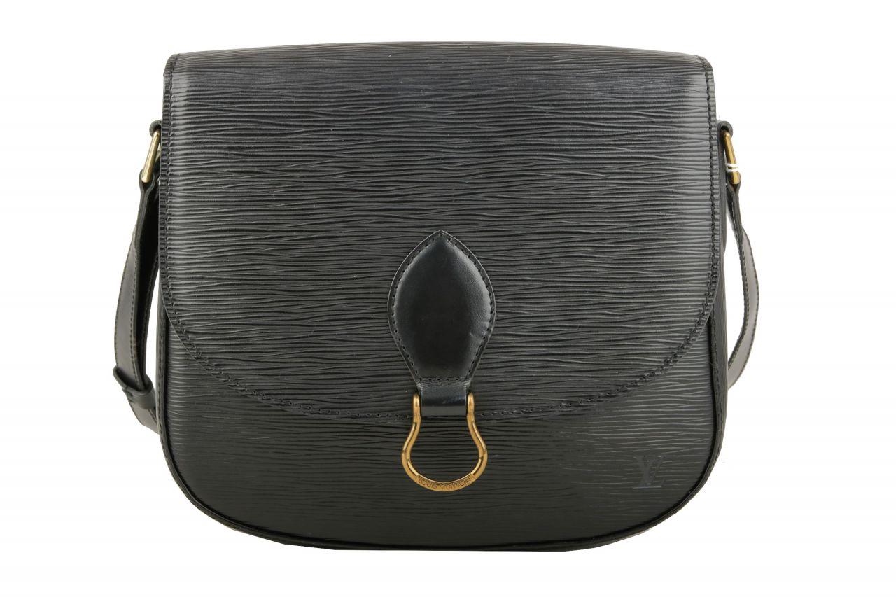 Louis Vuitton Saint Cloud Epi Leder Schwarz