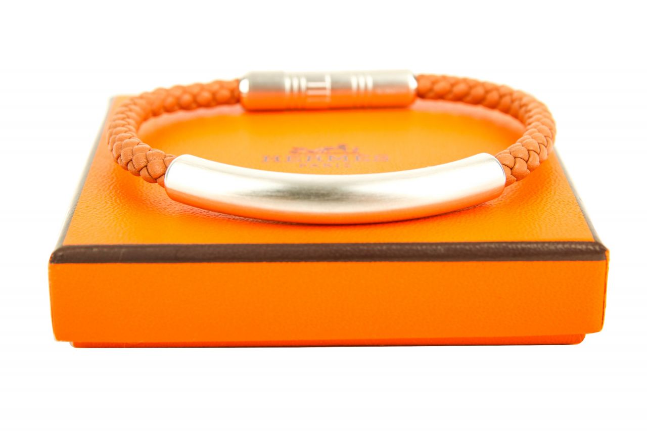 Hermès Bracelet Cuir Totem Swift T5 Gold