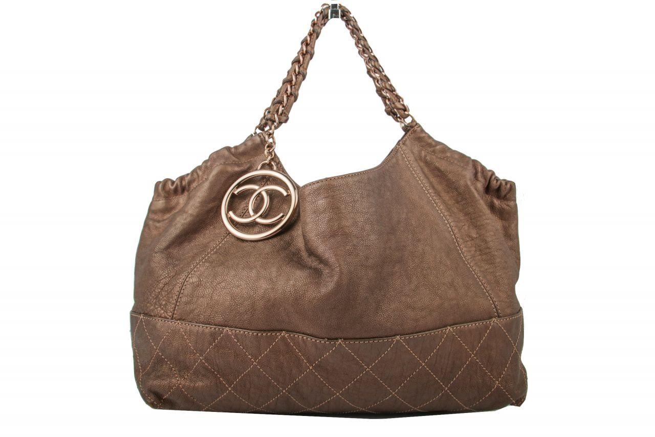 Chanel Hobo Bag Braun/ Bronze