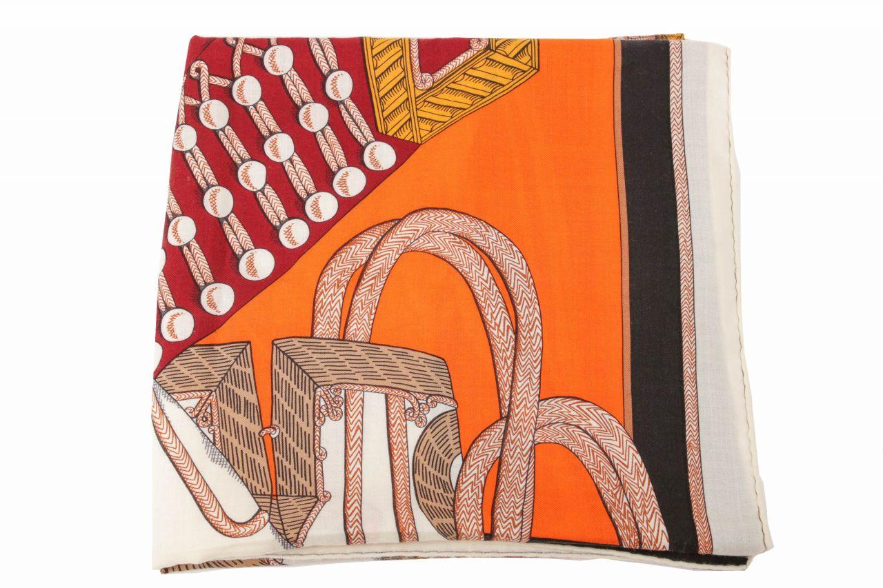 """Hermès Schal """"Zouaves Et Dragons"""" Cashmere Seide 140x140cm"""