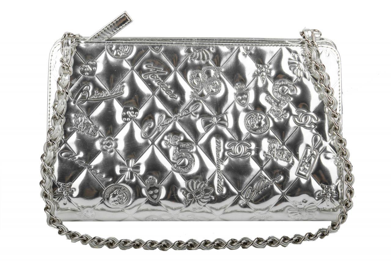 Chanel Shoulder Bag Dairy in Glazed Metallic