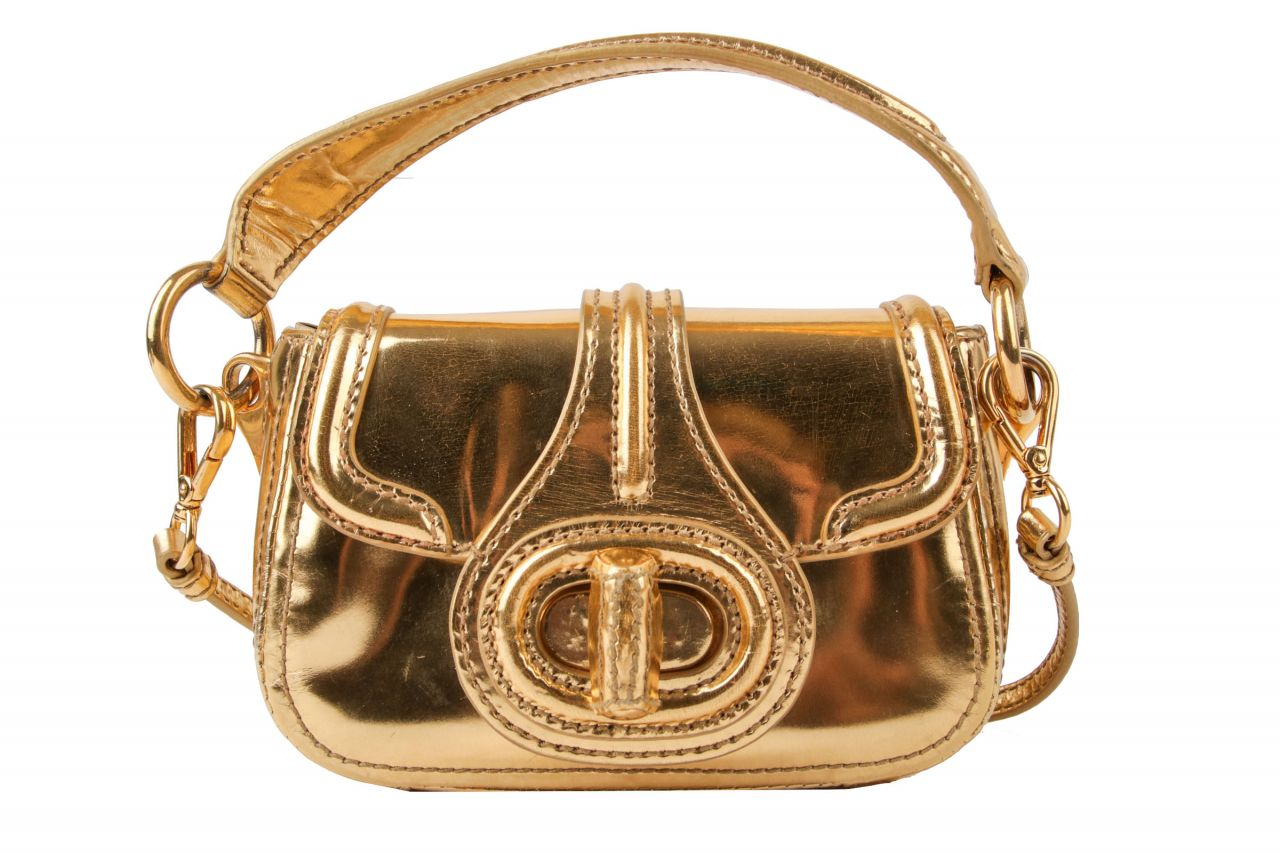 Prada Vitello Shine Mini Bag Gold