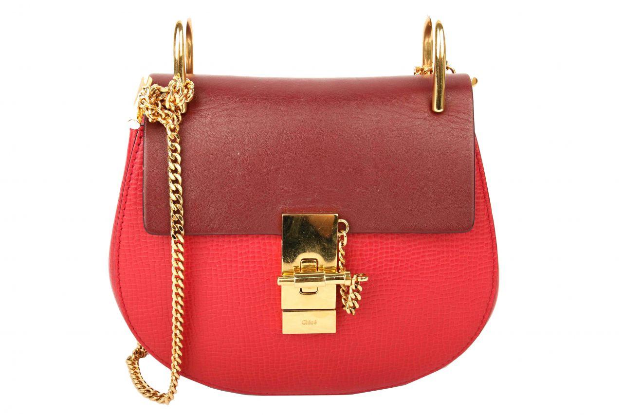 Chloé Drew Mini Shoulder Bag Red