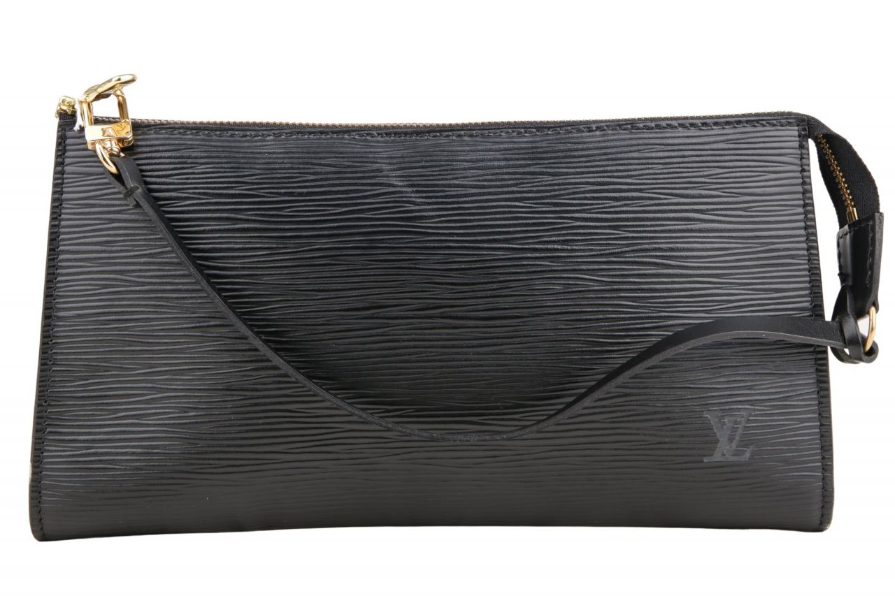 Louis Vuitton Pochette Epi Leder Schwarz