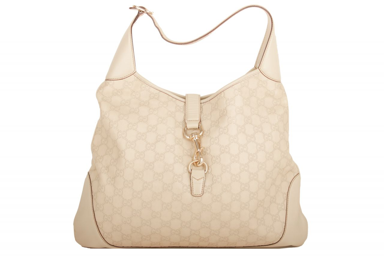 Gucci Jackie Weiß Guccissima Large