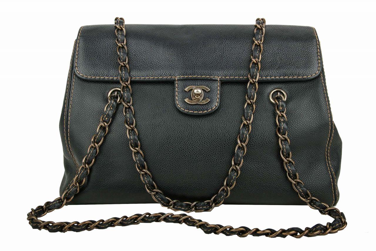 Chanel Vintage Tasche Schwarz