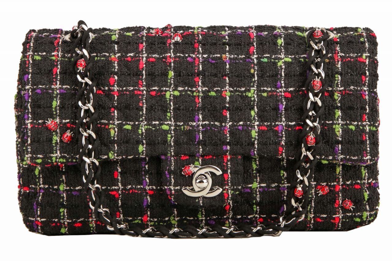 Chanel Timeless Single Flap Tweed Ladybug Edition