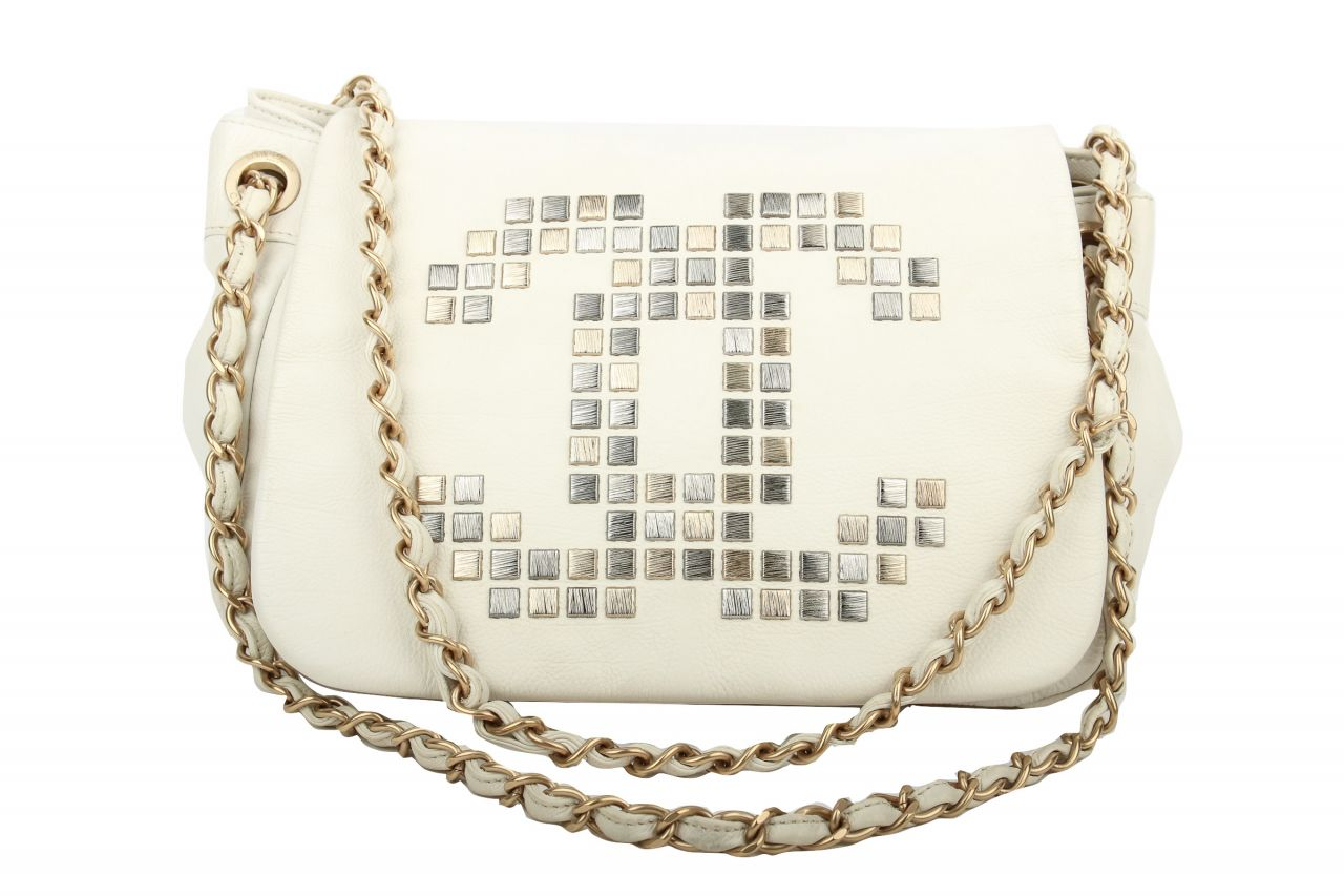 Chanel Crossbody Flap Bag White
