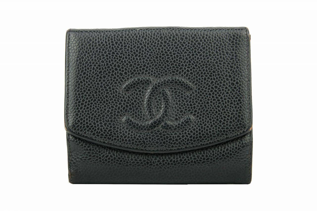 Chanel CC Wallet schwarz