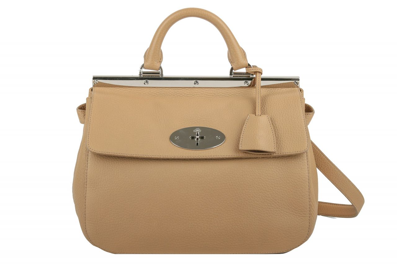 Mulberry Suffolk Small Bag Mushroom Grey