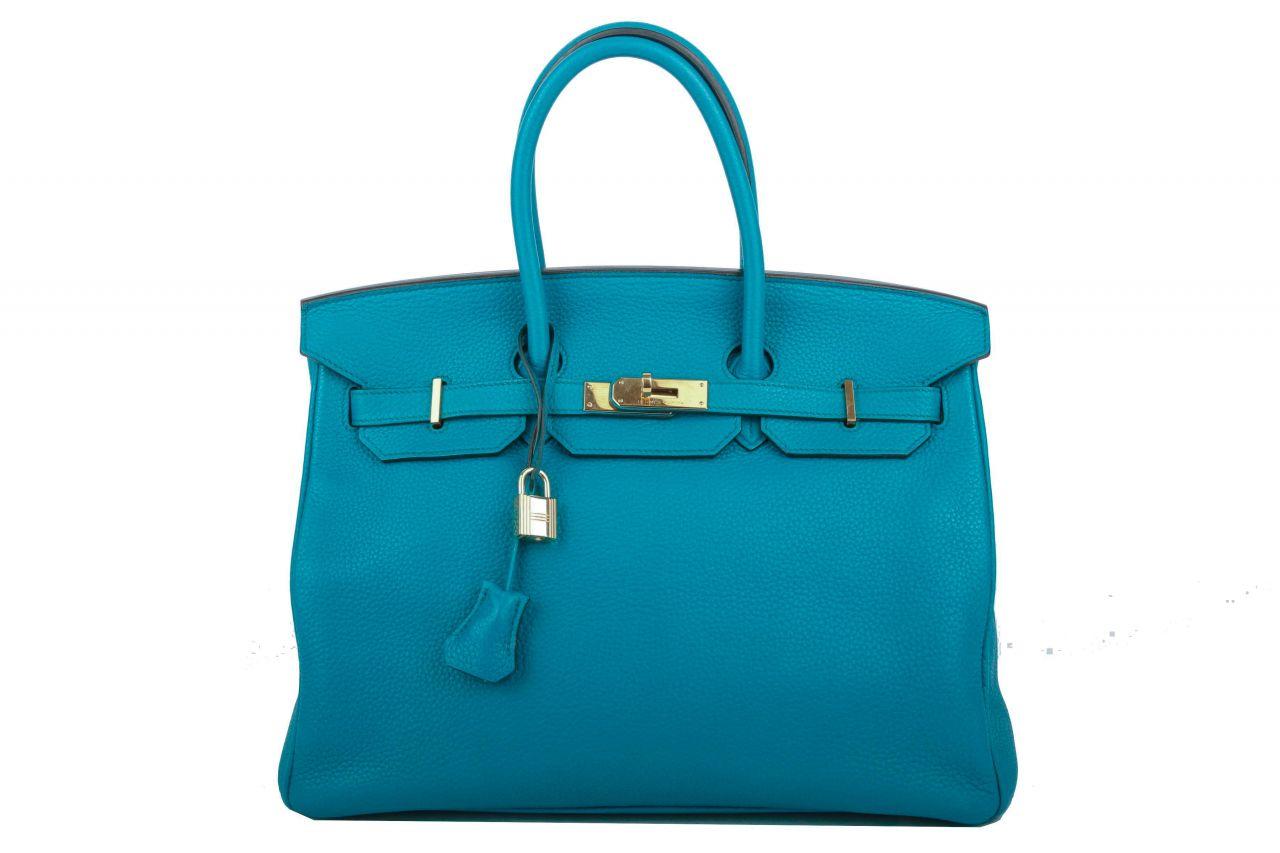 Hermès Birkin Bag 35 Blue Izmir Togo