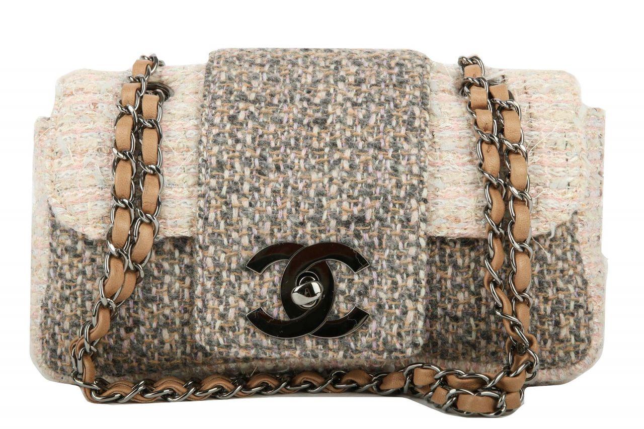 Chanel Classic Tweed Fantasy Flap Bag