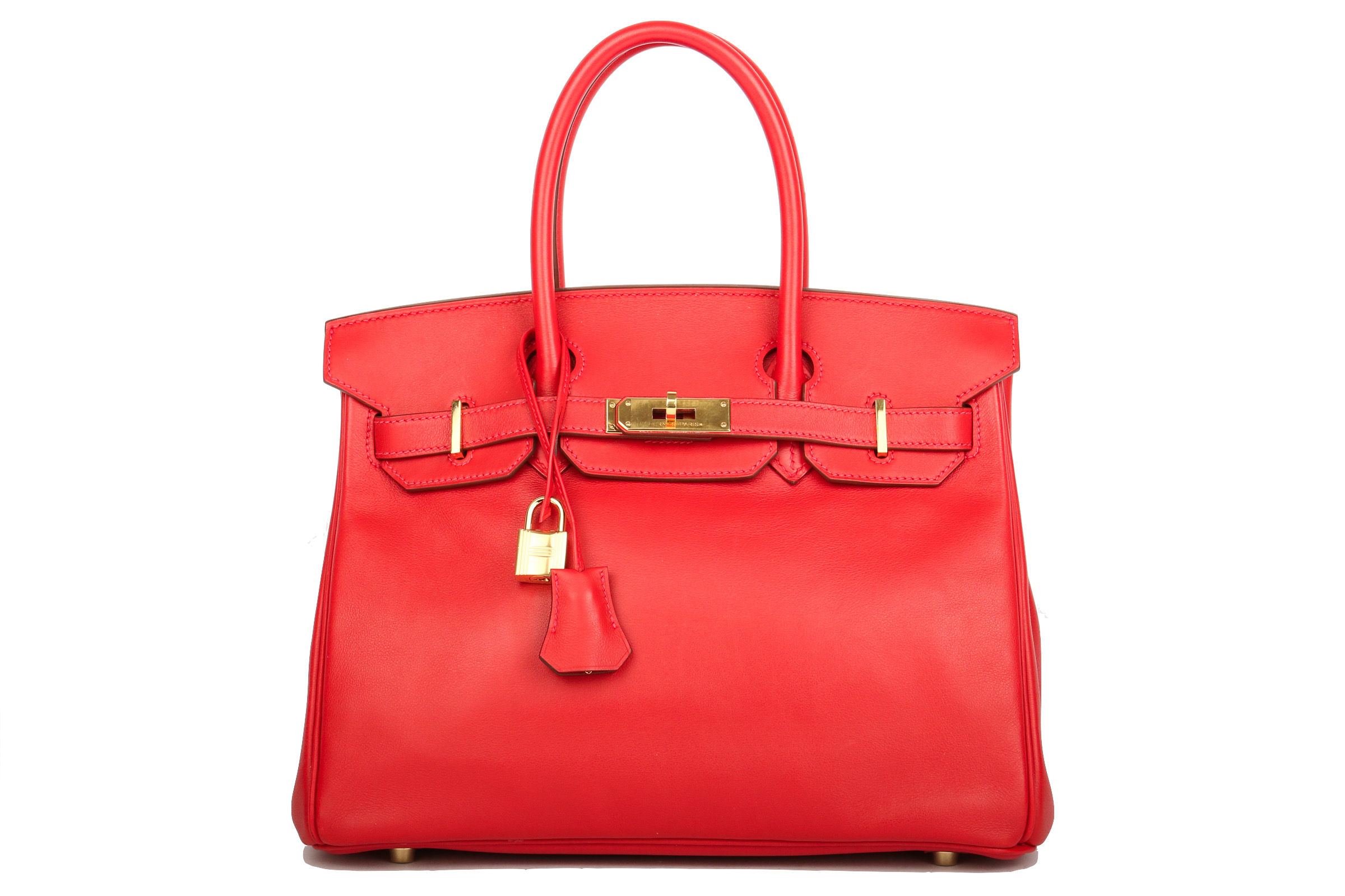 Hermès Birkin 30 Rot Swift Leder   Luxussachen.com e08bb4d186