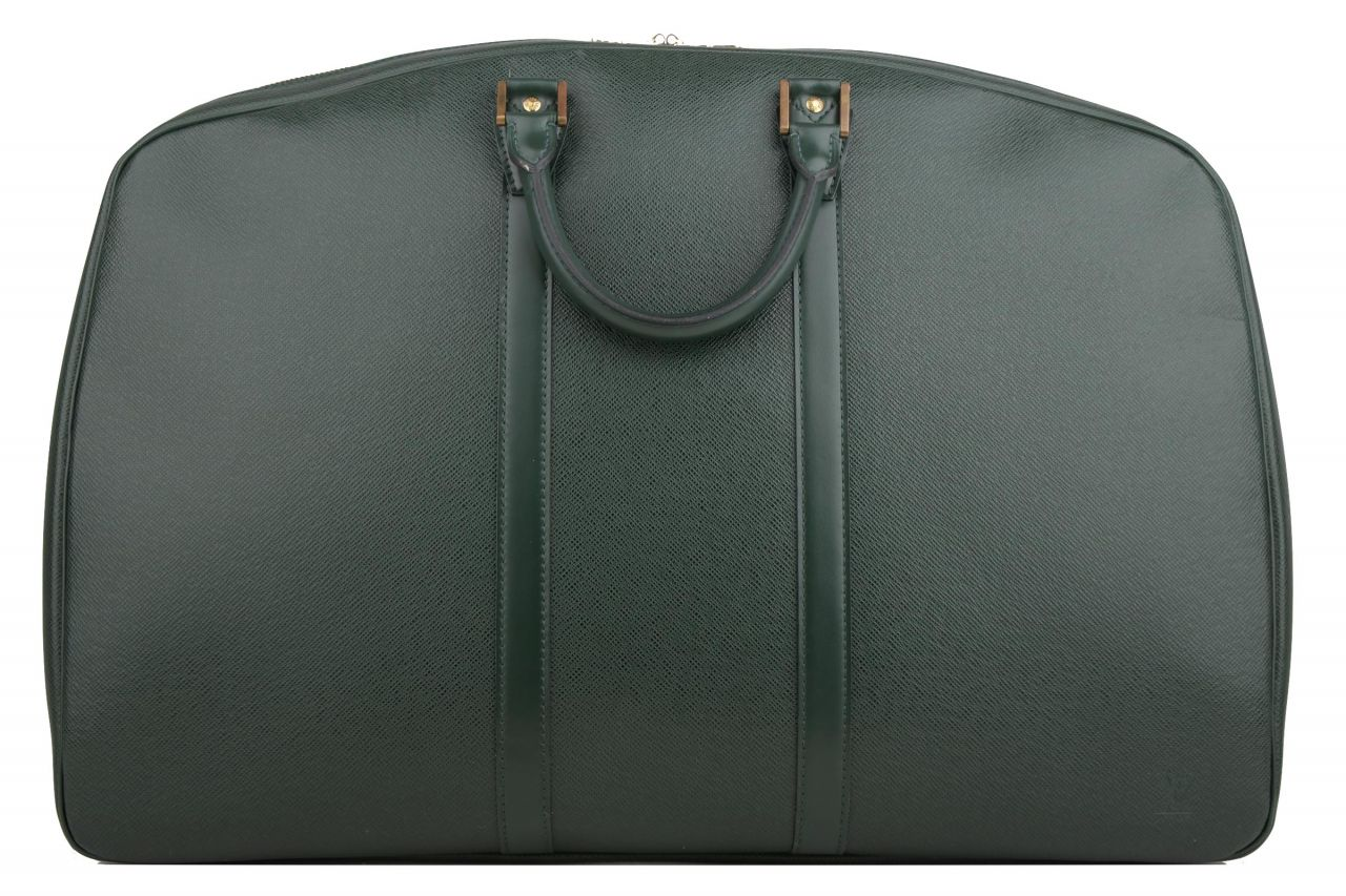 Louis Vuitton Helanga Taiga Leather Green