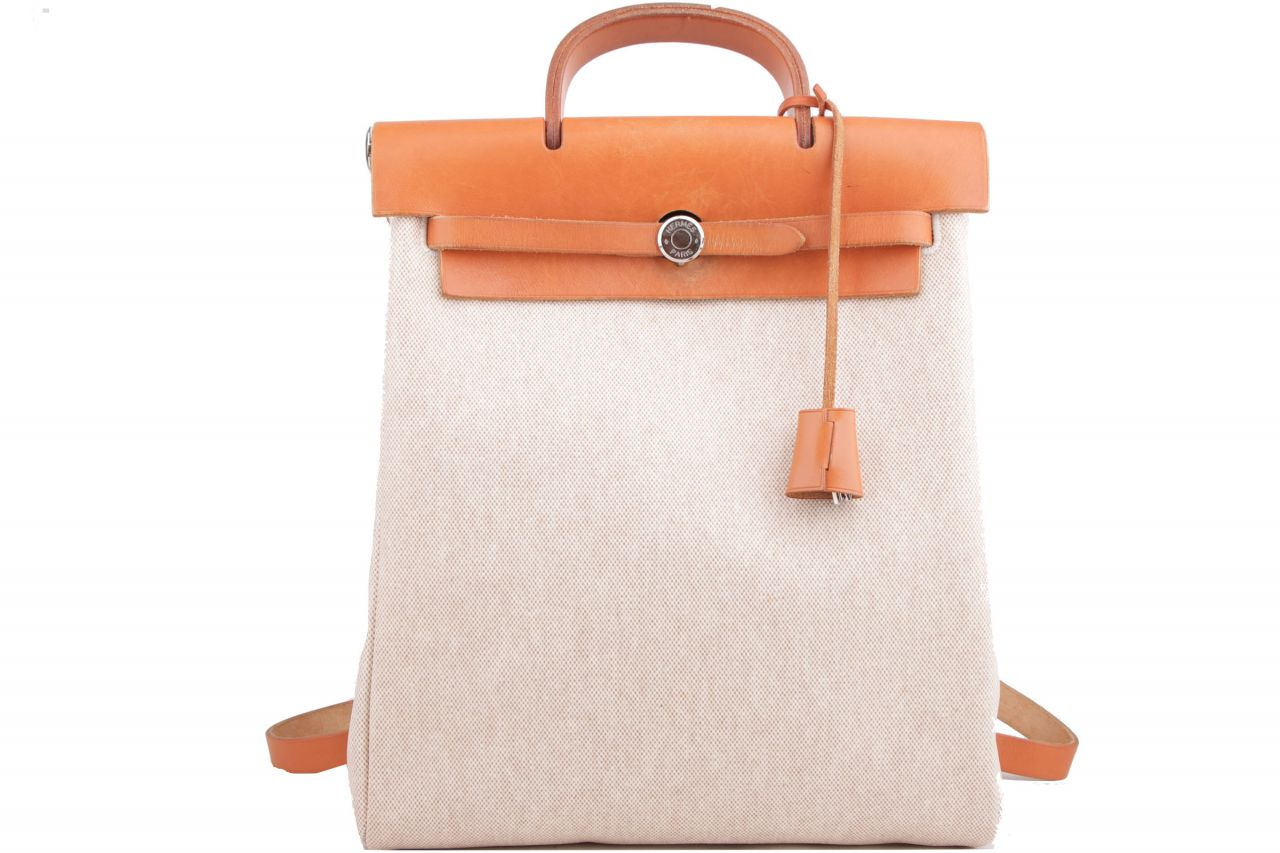 Hermès Herbag Backpack Braun