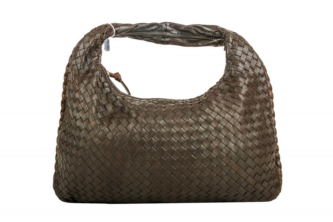 Bottega Veneta Hobo Bag Nappaleder Intrecciato Braun Small