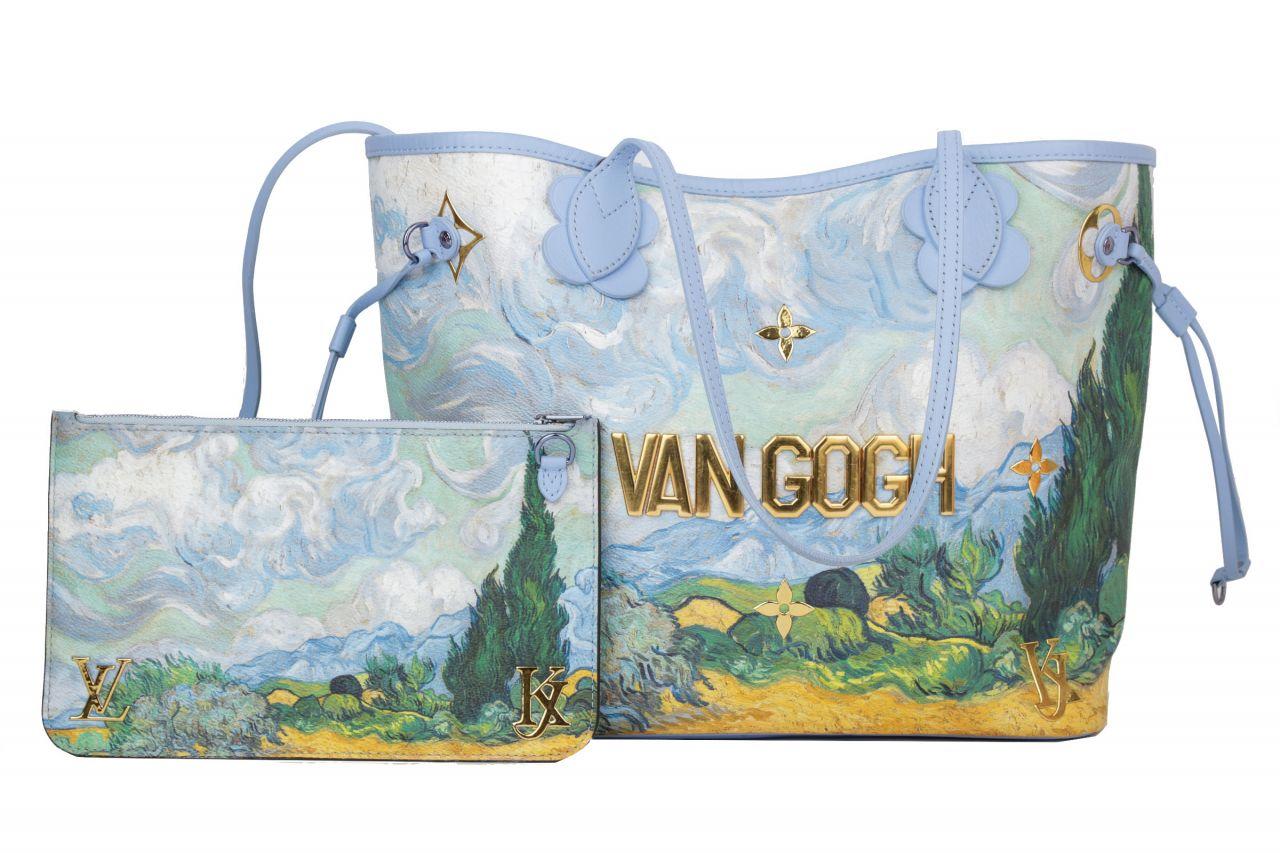 Louis Vuitton Jeff Koons Van Gogh Neverfull MM inkl. Pochette