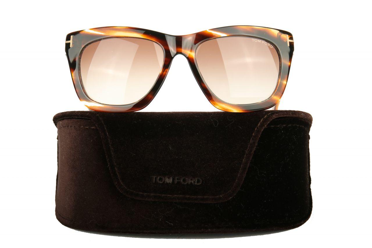 Tom Ford Sonnenbrille Celina in braun gestreift