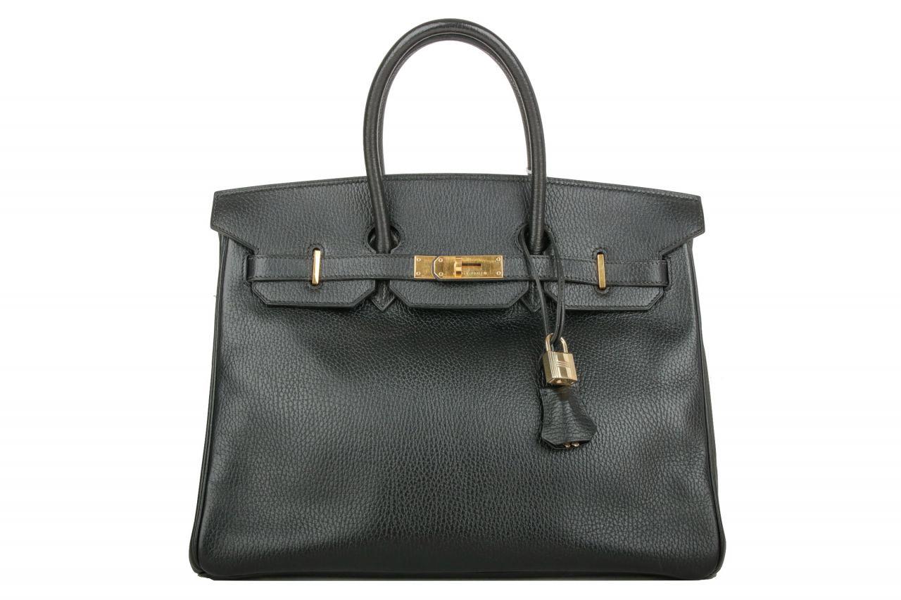 Hermès Birkin 35 Schwarz Togo